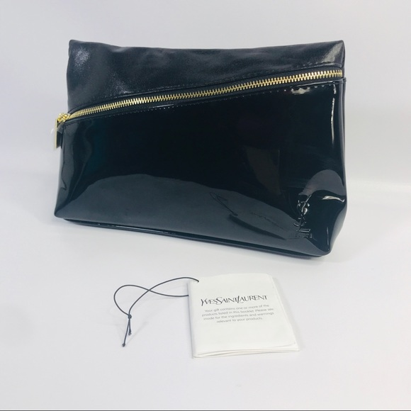 ae39e6fcf0db NWT YSL Yves Saint Laurent Beaute Black Patent